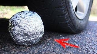Download EXPERIMENT: CAR VS POLISHED ALUMINIUM FOIL BALL Video