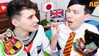 Download UK vs JAPAN School Lunches! with Dan and Phil Video