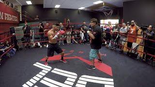 Download Abner Mares POV boxing workout- GOPRO4- Santa Cruz vs. Mares full video Video