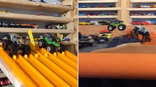 Download 2016 HOT WHEELS MONSTER TRUCK KING OF THE HILL #1″The Race″ Video