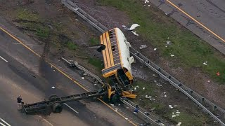 Download Student and teacher killed, dozens injured in New Jersey school bus crash Video