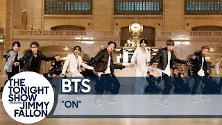 Download BTS Performs ″ON″ at Grand Central Terminal for The Tonight Show Video