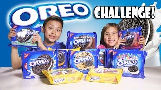 Download OREO CHALLENGE!!! The Blindfold Cookie Tasting Game Show! Video