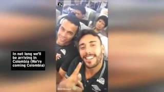 Download footage from inside plane carrying Brazilian football team moments before it crashed Video