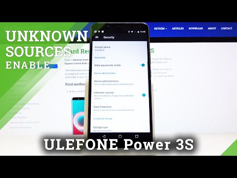 How to Enable App Installation in Ulefone Power 3s - Activate Unknown Sources