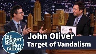 Download John Oliver Is a Target of Vandalism Video