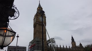 Download Big Ben Repairs London Westminster scaffolding Live Video