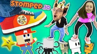 Download FGTEEV STOMPS on LITTLE PEOPLE! Super Mario Wario King! Daddy Daughter Destruction Duo in STOMPED.io Video