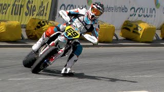 Download Supermoto Drifts, Jumps & Crashes | iDM St. Wendel 2016 Video