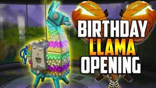 Download MASSIVE BIRTHDAY LLAMA OPENING! We Got The JACK-O-LAUNCHER!! - Fortnite Save The World Video
