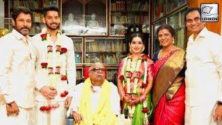 Download Vikram's Daughter Akshita Marries Karunanidhi's Great Grandson Manu Ranjith Video