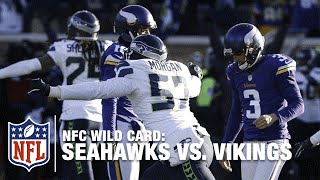 Download Not Even Close! Blair Walsh Misses Game-Winning FG! | Seahawks vs. Vikings | NFL Video