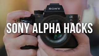 Download 5 SONY ALPHA HACKS YOU NEED TO KNOW a6300 a6500 a7R II a7S II a9 RX100 V Video