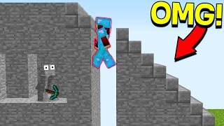 Download INVISIBLE MINECRAFT STAIRCASE TROLL! (Minecraft Trolling) Video