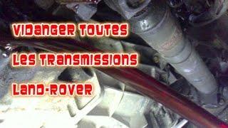 Download Vidanger toutes les transmissions Defender, Range Classic, Disco 1et2 Video