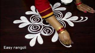 Download latest simple rangoli designs with 3 dots * easy muggulu * kolam with out colors *rangavalli Video