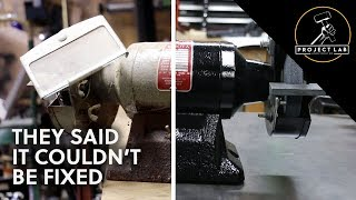 Download Rusty old bench grinder restoration Video