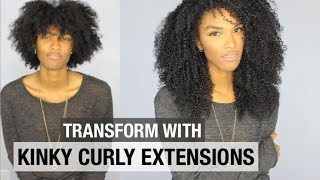 Download HEAT FREE PROTECTIVE STYLE WITH KINKY CURLY EXTENSIONS | HOW TO WEAR A WIG FOR BEGINNERS Video