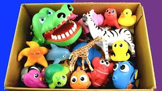 Download Box of Wild Zoo Animals Farm Animals | Learn Animal Names Educational Toys For Kids Video