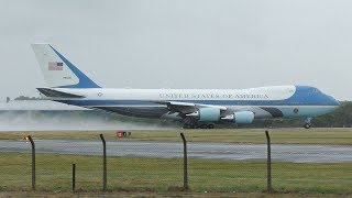 Download AIR FORCE ONE Departs Prestwick Airport July 2018 | USAF Boeing VC25A | President Trump UK Visit Video
