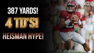 Download Tua Tagovailoa All Throws vs. Texas A&M: The Heisman Hype is real! Video