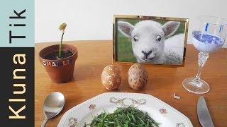 Download Special EASTER eggs for lunch! Kluna Tik Dinner #60 | ASMR eating sounds no talk Video
