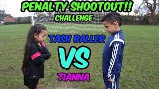 Download FOOTBALL CHALLENGE | PENALTY SHOOTOUT CHALLENGE |TASH BALLER VS MY SISTER Video