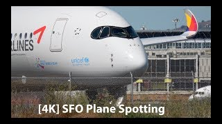 Download [4K] Plane Spotting at San Francisco Airport SFO Series 2 - A350, A380, 777, 747 and more Video