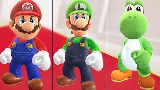 Download All Endings in Super Mario Odyssey (Mario, Luigi & Yoshi) Video