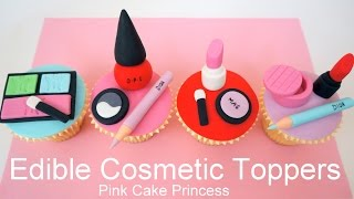 Download Edible Makeup Cake Toppers - How to Make Cosmetics Cake Toppers by Pink Cake Princess Video