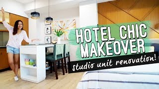 Download Hotel Inspired Studio Unit MAKEOVER Philippines // by Elle Uy Video