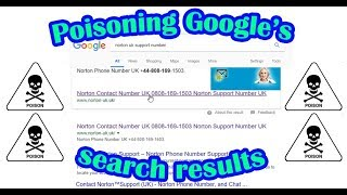 Download Poisoning Google's search results Video