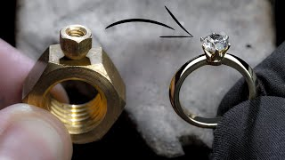 Download I TURN 2 HEX NUTS into a 1 Ct DIAMOND RING Video