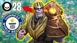 Download WORLD'S MOST THANOS KILLS in INFINITY GAUNTLET!! (Fortnite Battle Royale) Video
