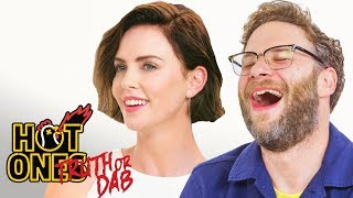 Download Seth Rogen and Charlize Theron Play Truth or Dab | Hot Ones Video