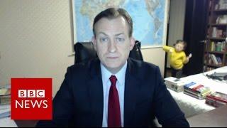 Download Children interrupt BBC News interview - BBC News Video