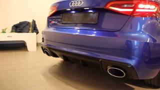 Download Sepang blue Audi RS3 8V 367PS (start up and small rev) Video