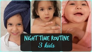 Download Night Time Routine with 3 Kids Video