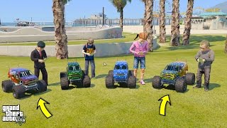 Download GTA 5 BABY'S REAL LIFE #2 OUR NEW MONSTER TRUCK RC CARS! (GTA 5 Mods For Kids) Video