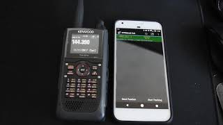 Download Kenwood D-74A / APRSDroid Transmit & Receive over Bluetooth Video