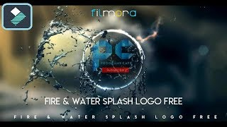 Download قالب فيلمورا إحترافي مجاناً   Filmora Professional Intro Fire & Water Splash Logo Free Video