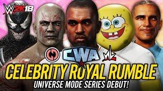 Download WWE 2K18 Celebrity Universe Mode - 30 MAN CELEBRITY ROYAL RUMBLE!! (CWA Universe w/ newLEGACYinc!!) Video