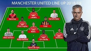 Download Manchester United Predicted Line Up 2018/19 ● Fred, Alex Sandro, Bale ... Video