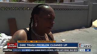 Download UPDATE: rotting trash picked up near downtown Las Vegas Video