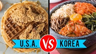 Download USA vs. South Korean Food Video