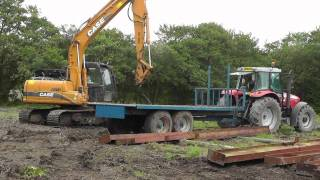 Download Case CX130 Excavator Unloading Shed (HD) Video