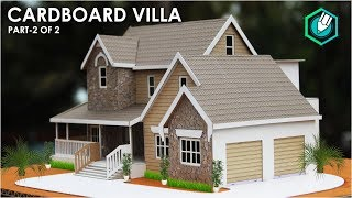 Download How To Make A BEAUTIFUL MANSION House From Cardboard | European country house Project part 2 Video