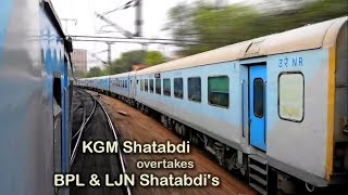 Download Parallel Action: Shatabdi overtakes Shatabdi Express Train [Indian Railways] Video