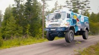 Download A Kamaz T4 Dakar Beast Tears Up a Backcountry Track Video