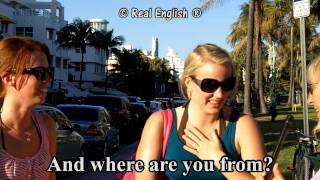 Download Real English® - 3 b - What's your name? Can you spell it? Where are you from? - 2011 Update. Video